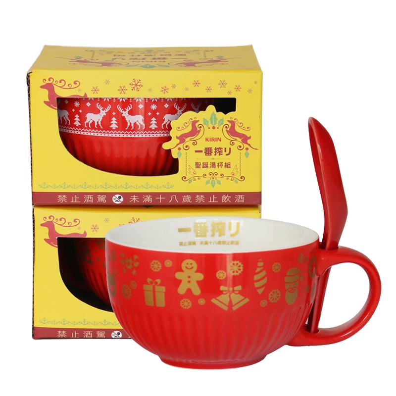 26万个台湾红色带勺汤杯